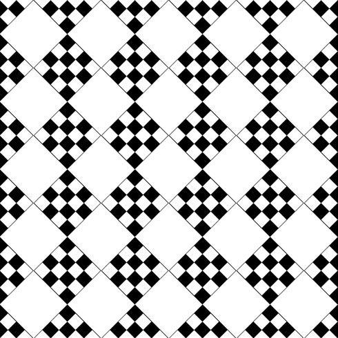 Modèle sans couture de vecteur. Noir et blanc Répétant motif carré géométrique vecteur