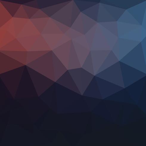 Bleu foncé vecteur sombre Low cristal fond de poly. Polygone desi