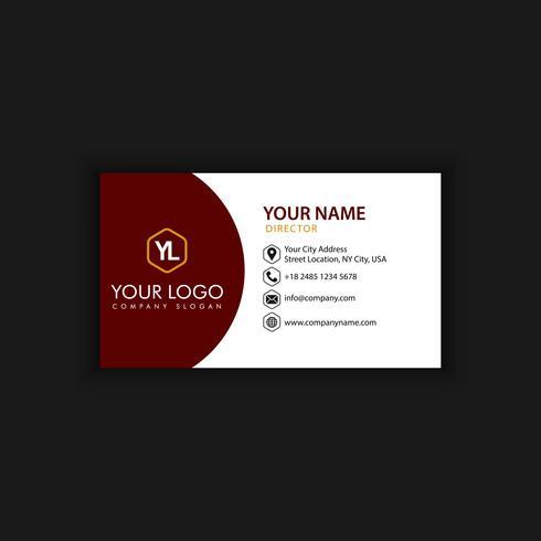 Modèle de carte de visite moderne créative et propre avec rouge noir vecteur