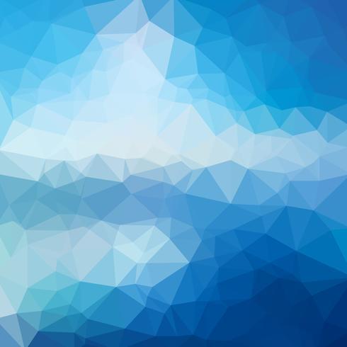 Low blue abstrait bleu composé de triangles. Art de vecteur. vecteur