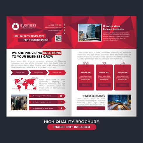 Brochure professionnelle Low Poly Red vecteur