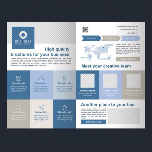 Brochure Blue Business Fold vecteur