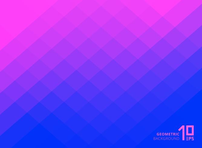 Carrés de couleur abstrait dégradé rose et bleu motif avec espace copie. vecteur