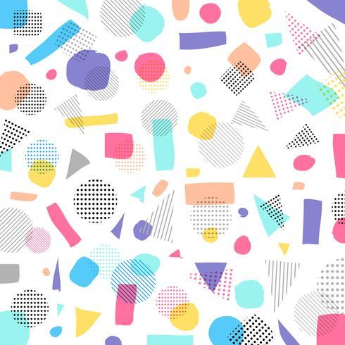 Couleur de pastels modernes géométriques abstraites, motif de points noirs avec des lignes en diagonale sur fond blanc vecteur