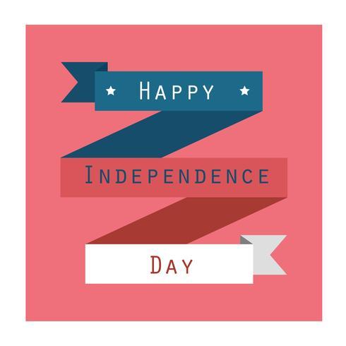 Bannière de la fête de l'indépendance vecteur