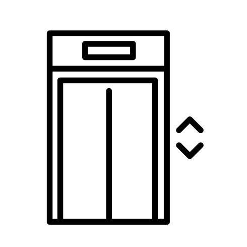 Vecteur d'icône ascenseur