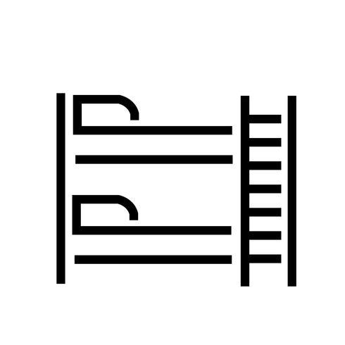 Vecteur d'icône de lit superposé