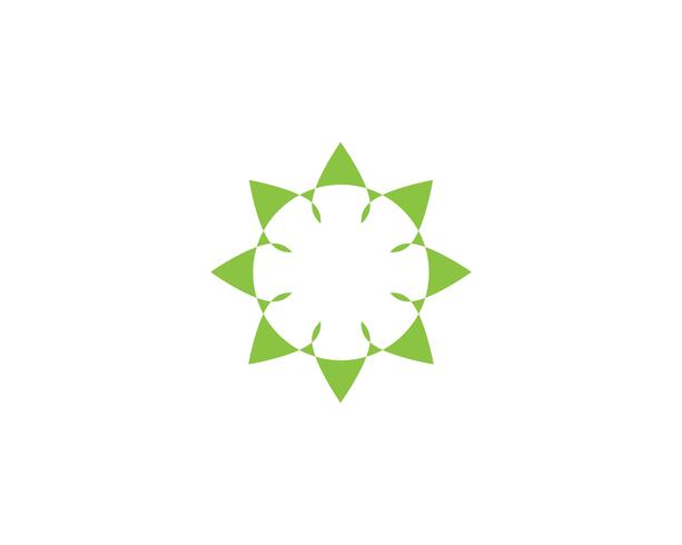 feuille verte logo ecologie nature element vecteur