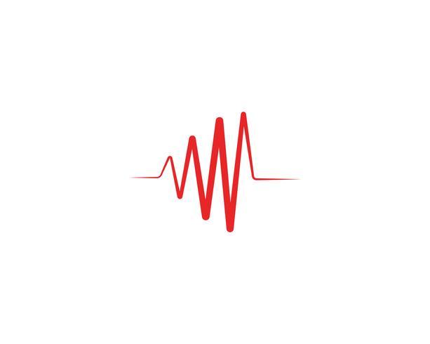 Vecteur de ligne logo coeur battre