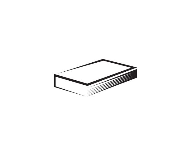 Livre de lecture logo et symboles icônes de modèle vecteur