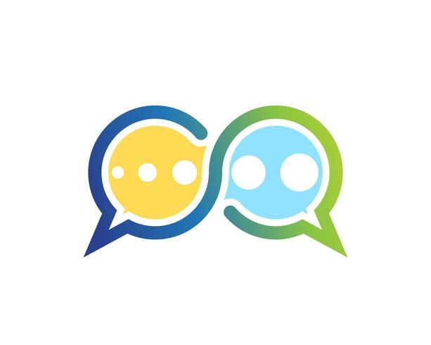 Icône de bulle de dialogue Logo template vector illustration vectoriel