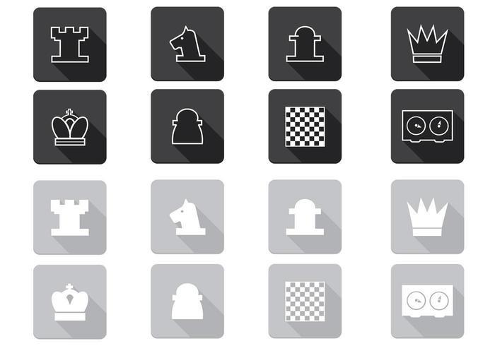 Pack d'icônes vectorielles d'échecs vecteur