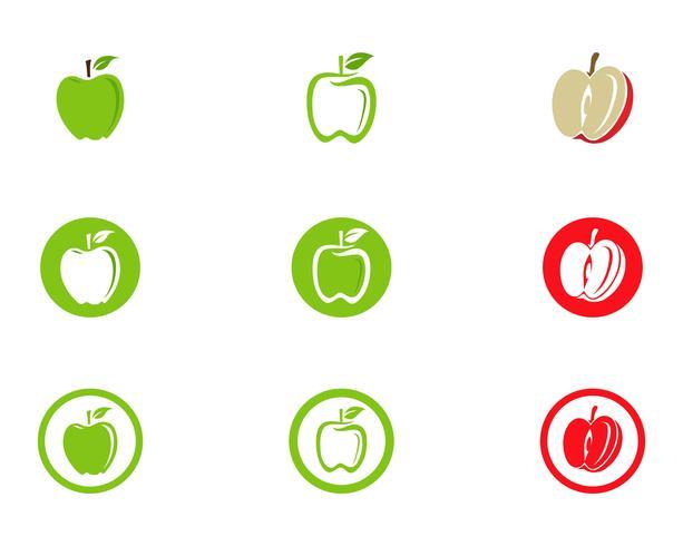 Conception d'illustration vectorielle Apple vecteur