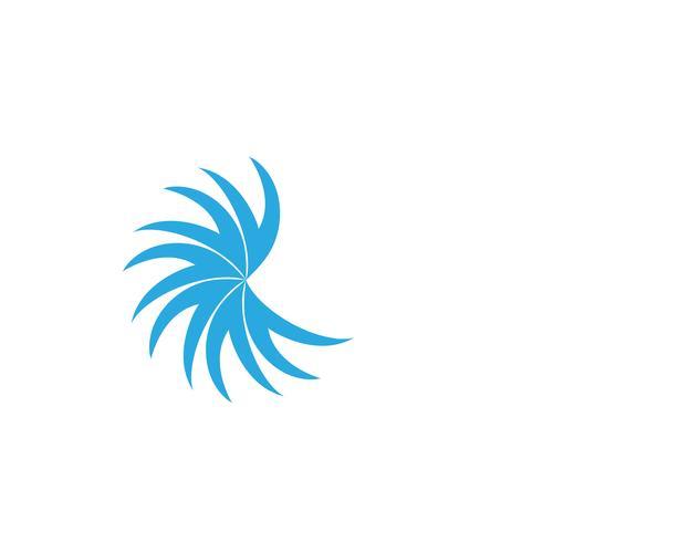 Logo de ligne vecteur entreprise Sun