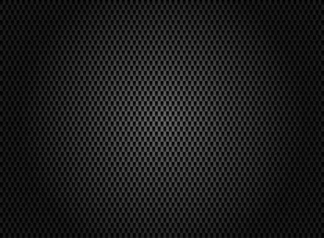 Texture abstraite en fibre de carbone sur fond sombre. vecteur