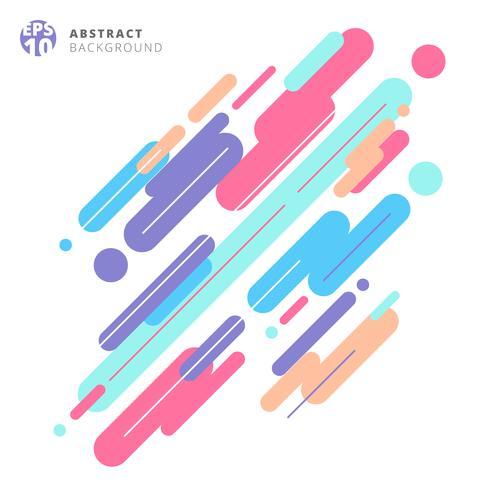 Composition de style moderne abstrait composée de divers motifs de lignes arrondies colorées sur fond blanc. vecteur