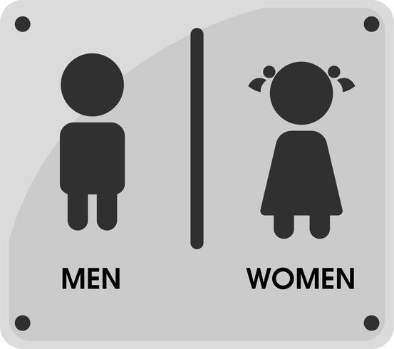 Men and Women Toilet thèmes d'icônes Cela a l'air simple et moderne. Illustration vectorielle vecteur