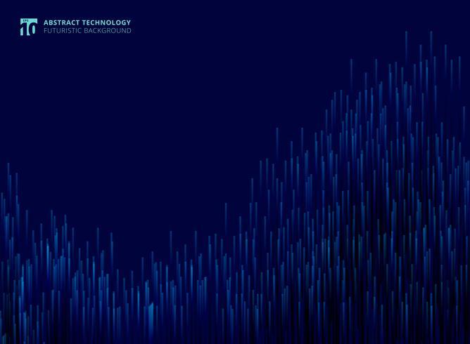 Lignes modernes futuristes abstraites composées de fond rougeoyant de concept technologie bleu vecteur