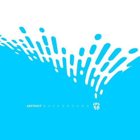 Les lignes arrondies bleues abstraites demi-teintes distordent la transition. vecteur