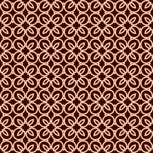 Motif de lignes géométriques sans soudure. Design graphique contemporain. Texture linéaire sans fin pour papier peint, motifs de remplissage, fond de ligne de page Web. Ornement géométrique monochrome brun doré vecteur