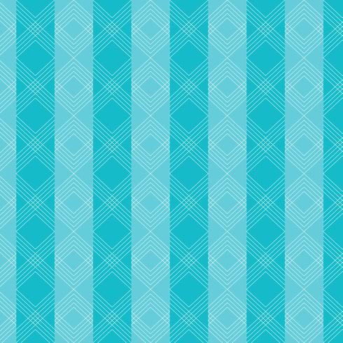 Motif de lignes ondulées de triangles sur fond rayé bleu. vecteur
