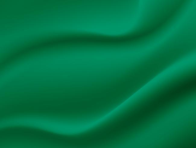 Fond de texture abstraite. Soie Satin Verte. Tissu Tissu Textile avec plis ondulés. vecteur