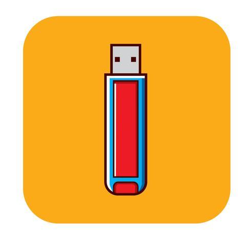 Logo sans disque flash vecteur