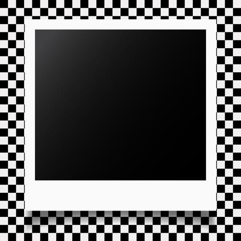 Modèle de cadre photo vecteur