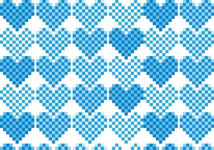 Pack vecteur Pixel Heart Pattern