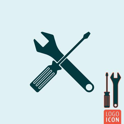 Icône d'outils isolée vecteur
