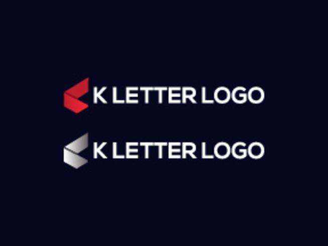 lettre k logo vecteur