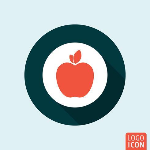 Icône Apple isolé vecteur