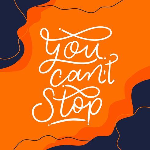 Lettrage de motivation orange à propos de Work Out vecteur