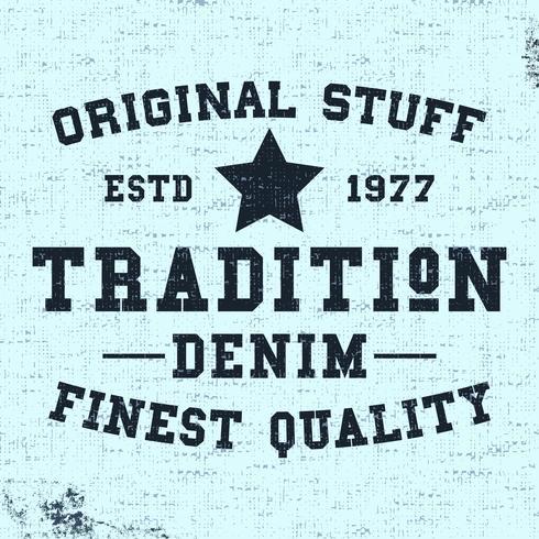 Timbre Vintage Tradition vecteur