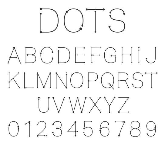 Points lettres et chiffres. vecteur
