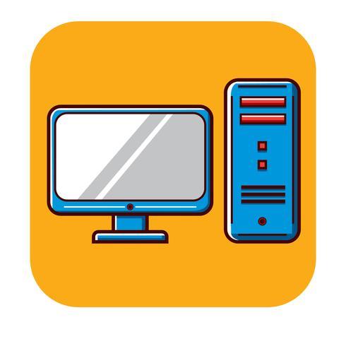 Modèle de logo gratuit pour ordinateur personnel vecteur