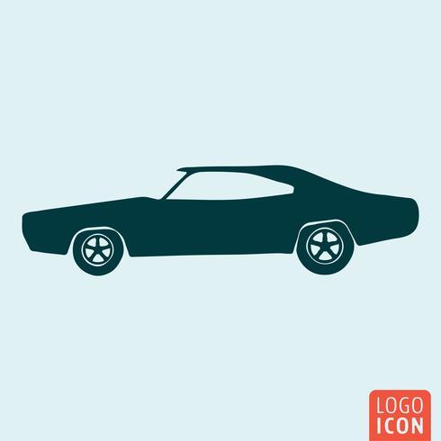 Icône de voiture vintage vecteur