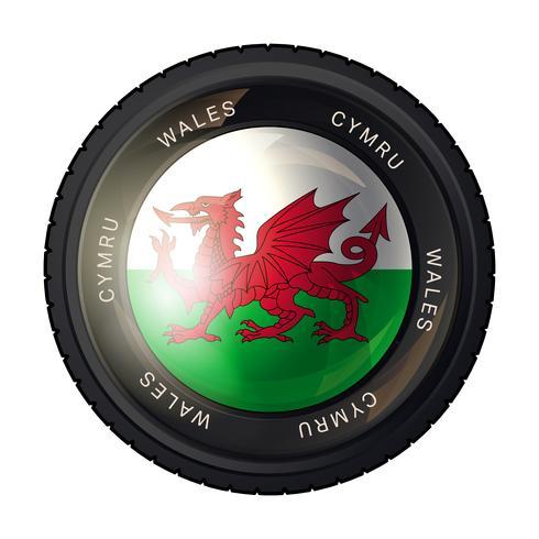 Icône de drapeau du pays de Galles vecteur