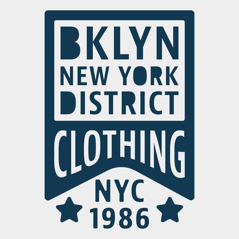 Timbre vintage de Brooklyn à New York vecteur