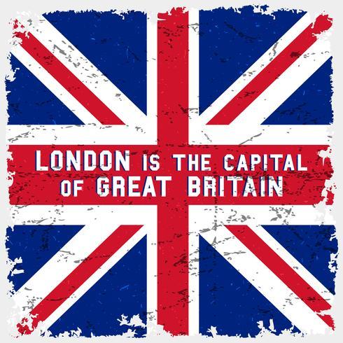 Affiche du drapeau de l'Angleterre. T-shirt imprimé vecteur
