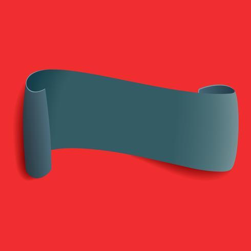Bannière courbée grise vecteur