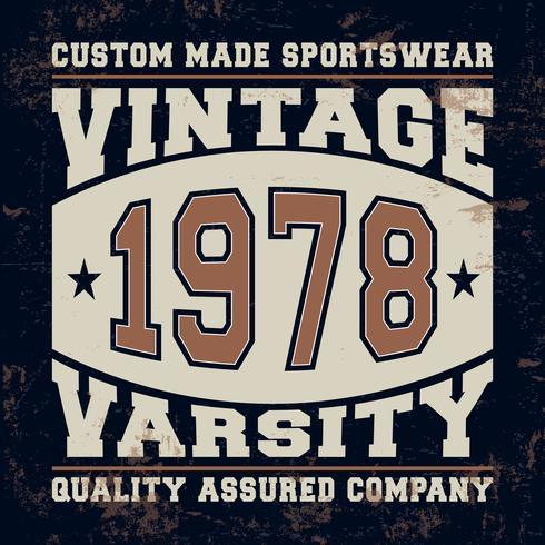 Timbre vintage Varsity vecteur
