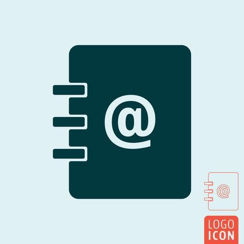 Icône du carnet d'adresses vecteur