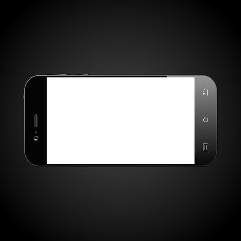 Smartphone noir isolé vecteur