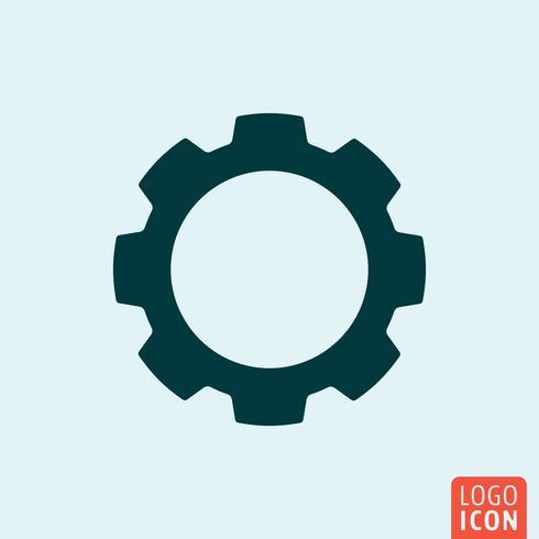 Icône de roue dentée vecteur