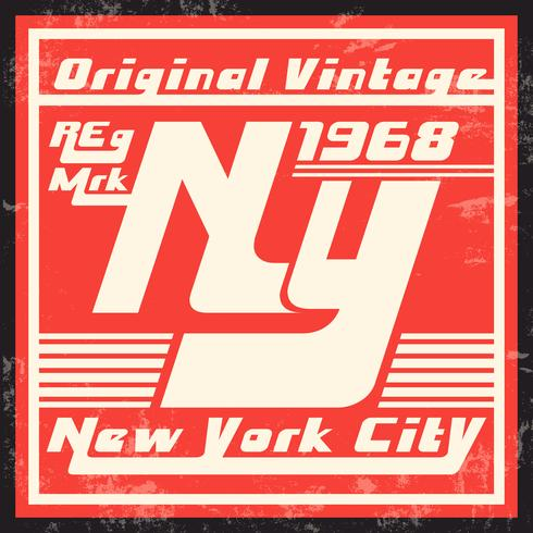 Timbre vintage de New York vecteur