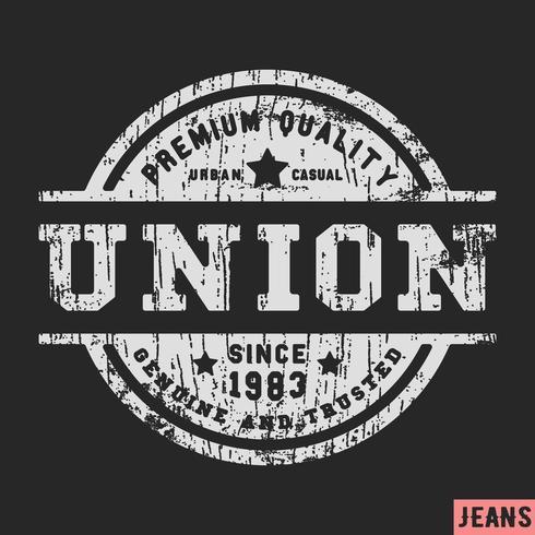 Timbre vintage Union vecteur