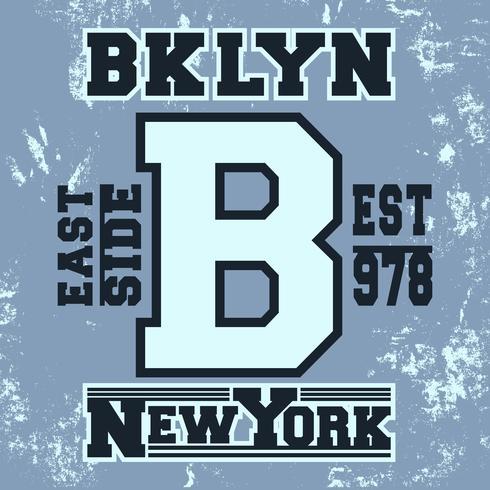 Timbre vintage de Brooklyn vecteur