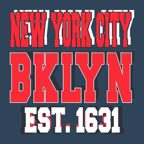 Timbre vintage de Broolklyn à New York vecteur