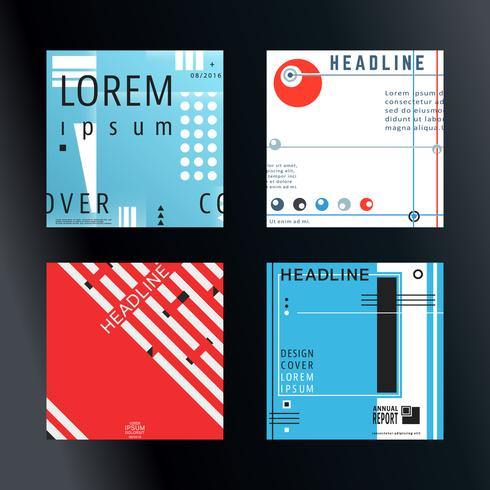 Set de brochures de couverture vecteur